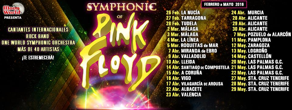 Dates Symphony of Pink Floyd